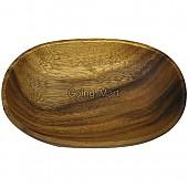 원목 나무 접시 아카시아 타원 미니접시