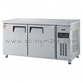고급형 간냉식 냉테이블1500(5자) GWFM-150RFT 냉동 182ℓ 냉장 182ℓ