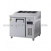 고급형 직냉식 토핑테이블900(3자) GWM-090RTT 냉장 255ℓ (밧드통포함)