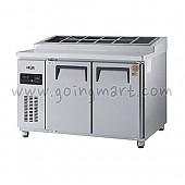 고급형 직냉식 토핑테이블1200(4자) GWM-120RTT 냉장 356ℓ (밧드통포함)
